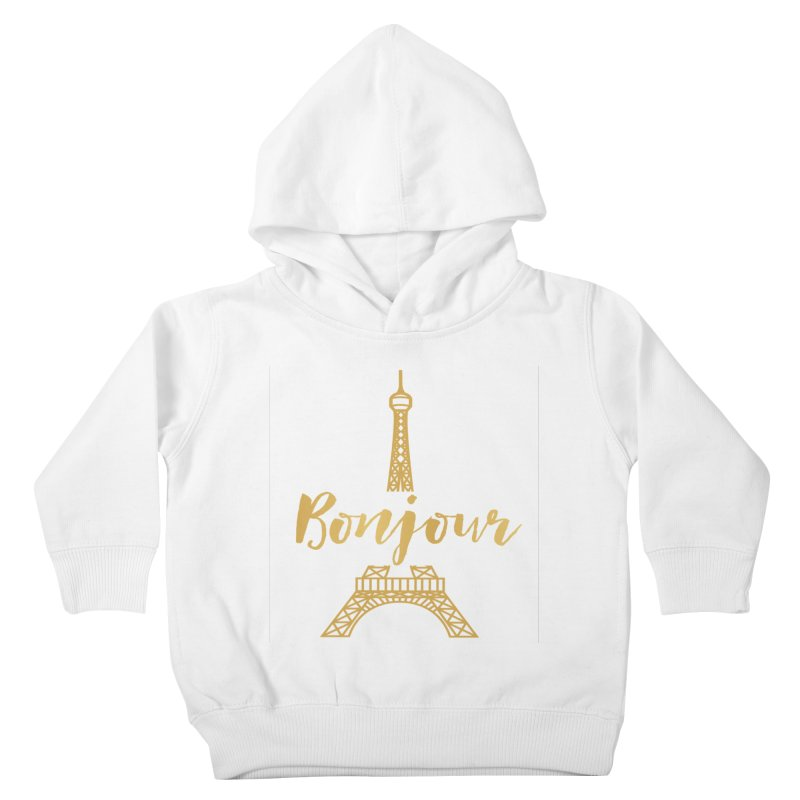 BONJOUR! EIFFEL TOWER Kids Toddler Pullover Hoody by IF Creation's Artist Shop