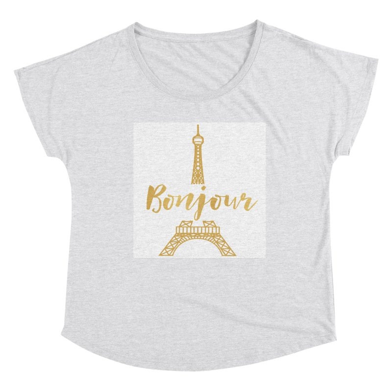 BONJOUR! EIFFEL TOWER Women's Scoop Neck by IF Creation's Artist Shop