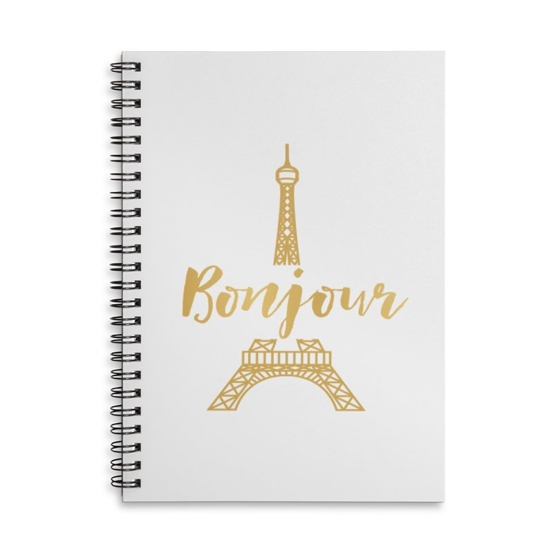 BONJOUR! EIFFEL TOWER Accessories Lined Spiral Notebook by IF Creation's Artist Shop