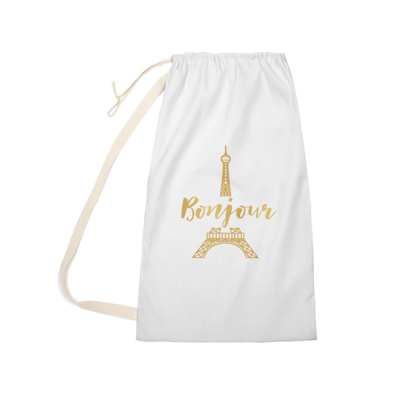 BONJOUR! EIFFEL TOWER Accessories Laundry Bag Bag by IF Creation's Artist Shop
