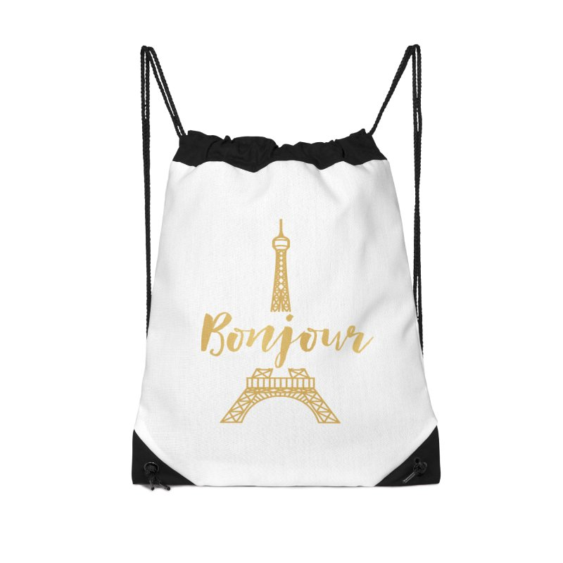 BONJOUR! EIFFEL TOWER Accessories Drawstring Bag Bag by IF Creation's Artist Shop