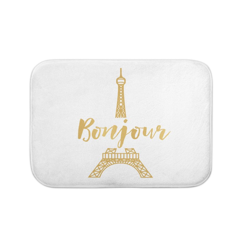BONJOUR! EIFFEL TOWER Home Bath Mat by IF Creation's Artist Shop