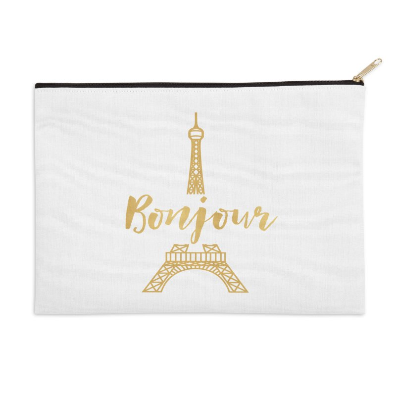 BONJOUR! EIFFEL TOWER Accessories Zip Pouch by IF Creation's Artist Shop