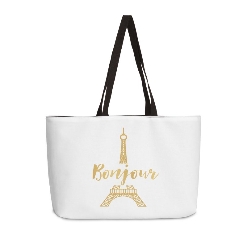 BONJOUR! EIFFEL TOWER Accessories Weekender Bag Bag by IF Creation's Artist Shop