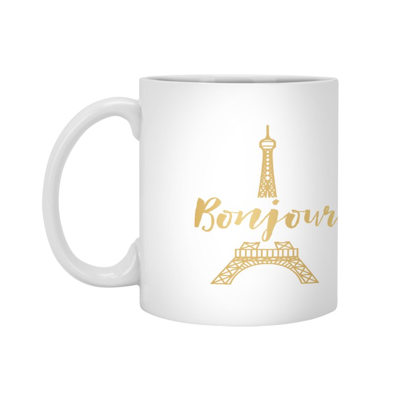 BONJOUR! EIFFEL TOWER Accessories Mug by IF Creation's Artist Shop