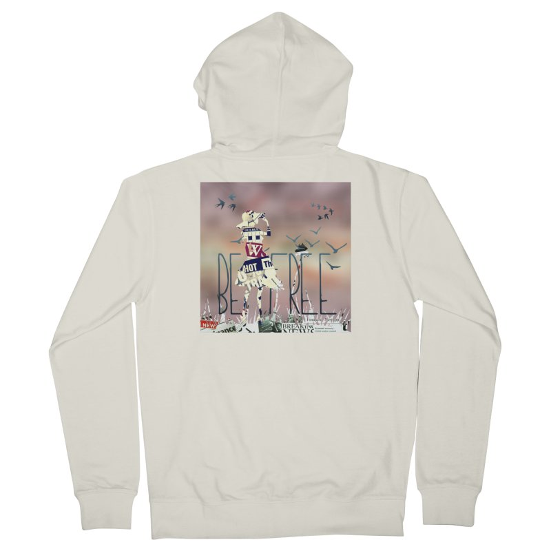 Be Free Women's French Terry Zip-Up Hoody by IF Creation's Artist Shop