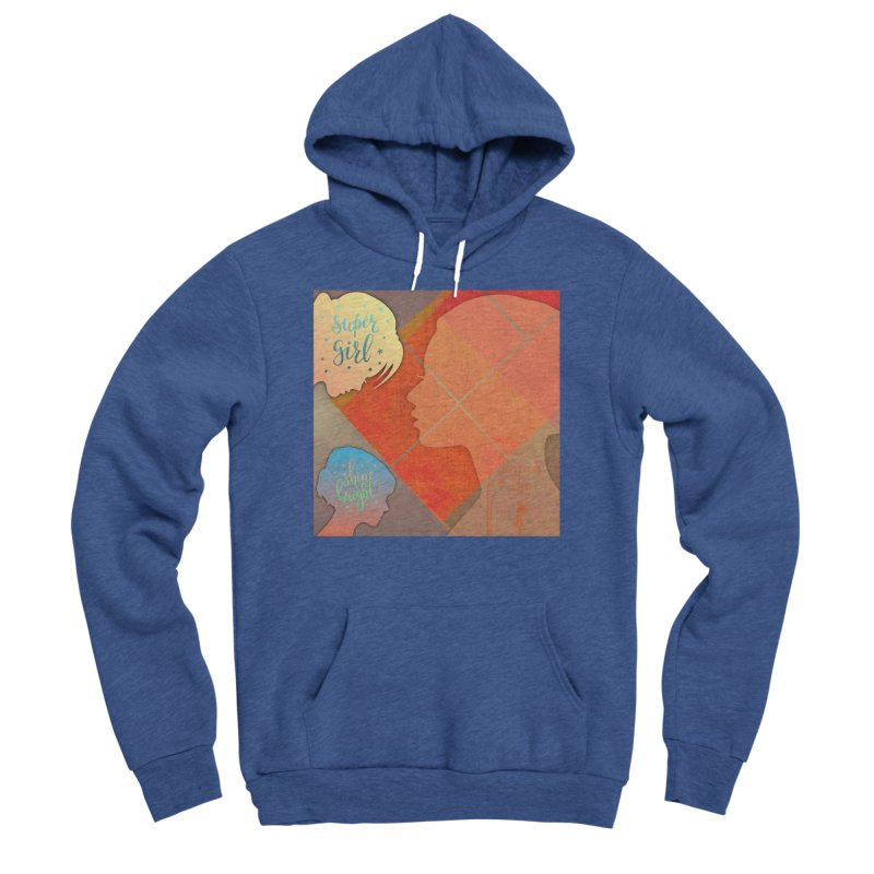 Russet Orange Women's Sponge Fleece Pullover Hoody by IF Creation's Artist Shop