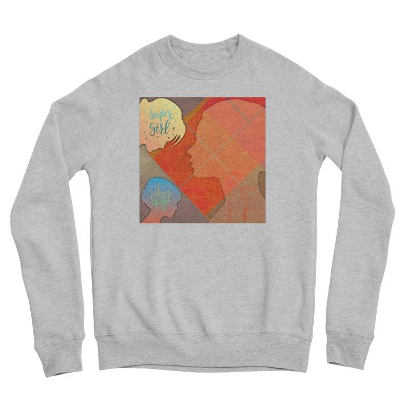 Russet Orange Women's Sponge Fleece Sweatshirt by IF Creation's Artist Shop