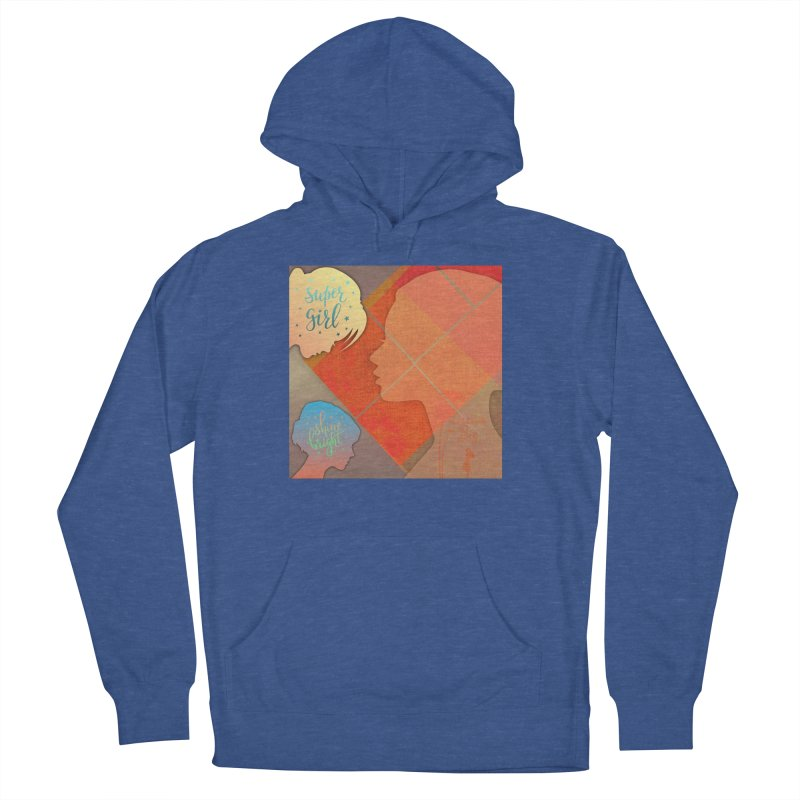 Russet Orange Women's French Terry Pullover Hoody by IF Creation's Artist Shop