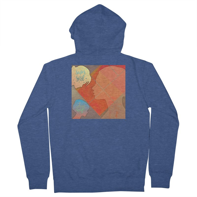Russet Orange Women's French Terry Zip-Up Hoody by IF Creation's Artist Shop