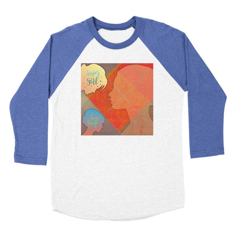 Russet Orange Women's Baseball Triblend Longsleeve T-Shirt by IF Creation's Artist Shop