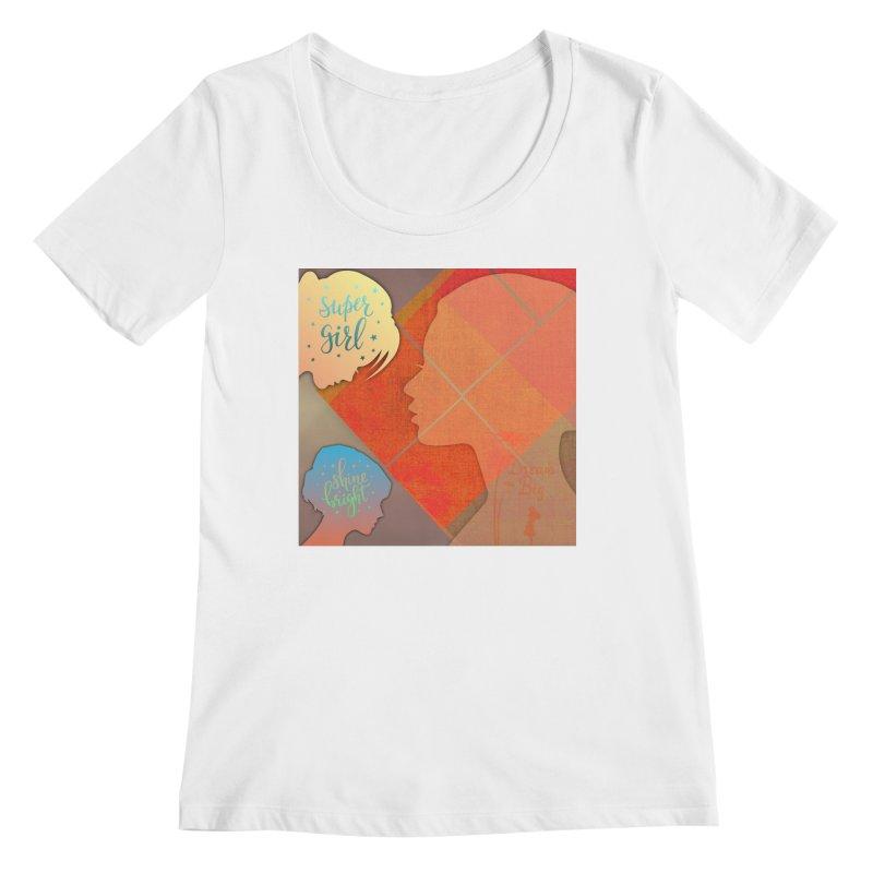 Russet Orange Women's Regular Scoop Neck by IF Creation's Artist Shop