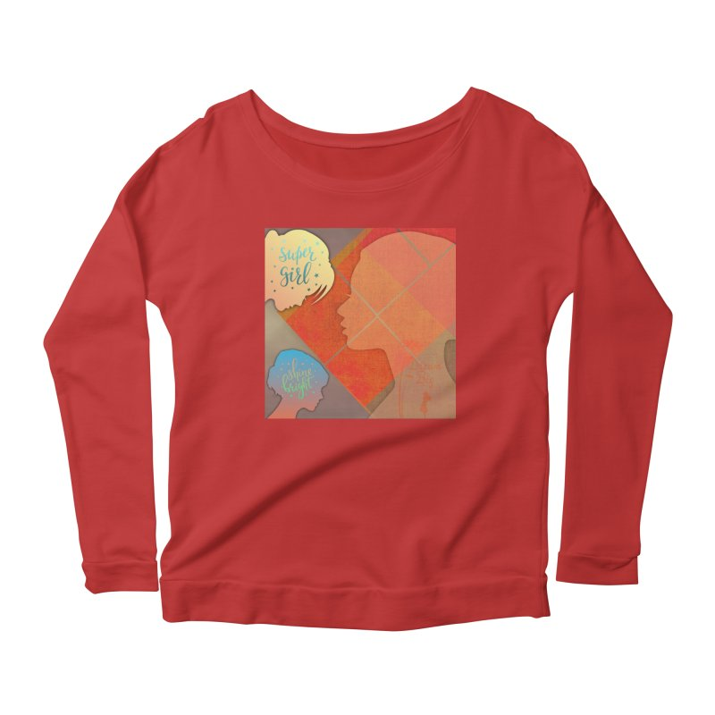 Russet Orange Women's Scoop Neck Longsleeve T-Shirt by IF Creation's Artist Shop