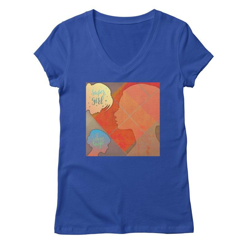 Russet Orange Women's V-Neck by IF Creation's Artist Shop