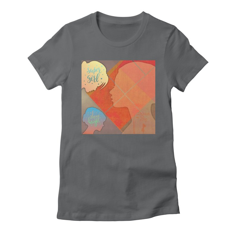 Russet Orange Women's Fitted T-Shirt by IF Creation's Artist Shop