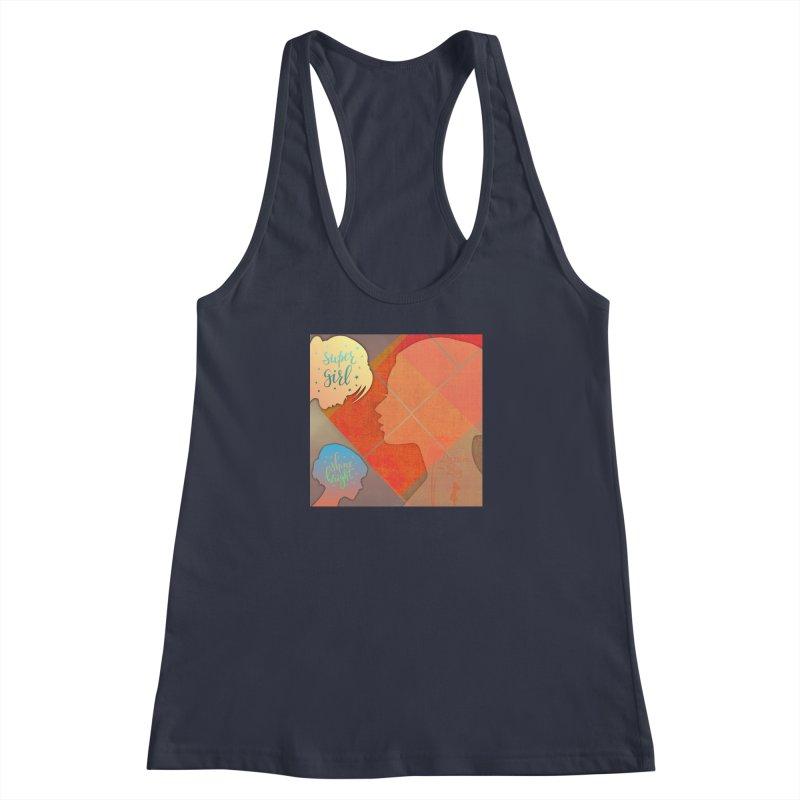Russet Orange Women's Racerback Tank by IF Creation's Artist Shop