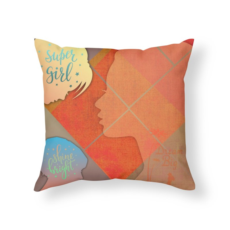 Russet Orange Home Throw Pillow by IF Creation's Artist Shop
