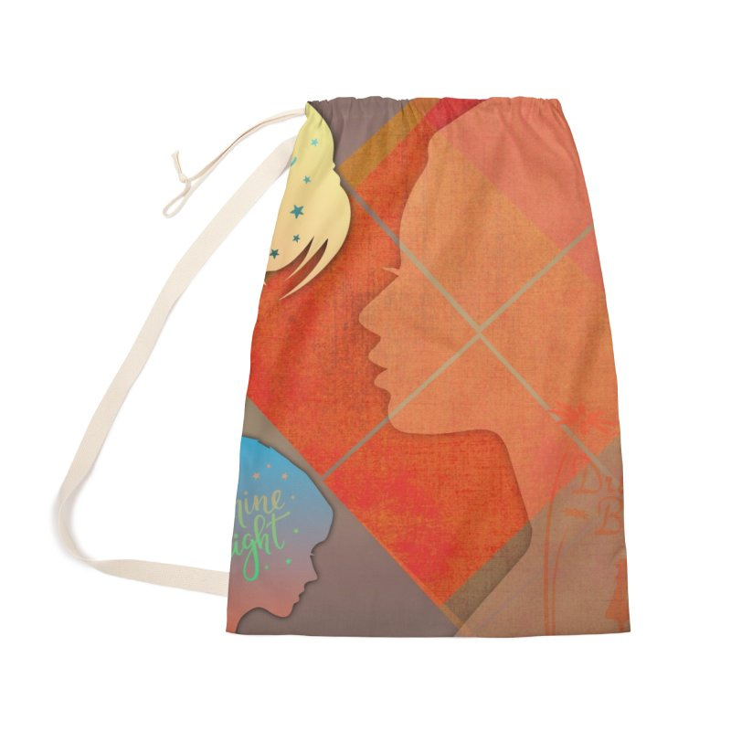Russet Orange Accessories Laundry Bag Bag by IF Creation's Artist Shop