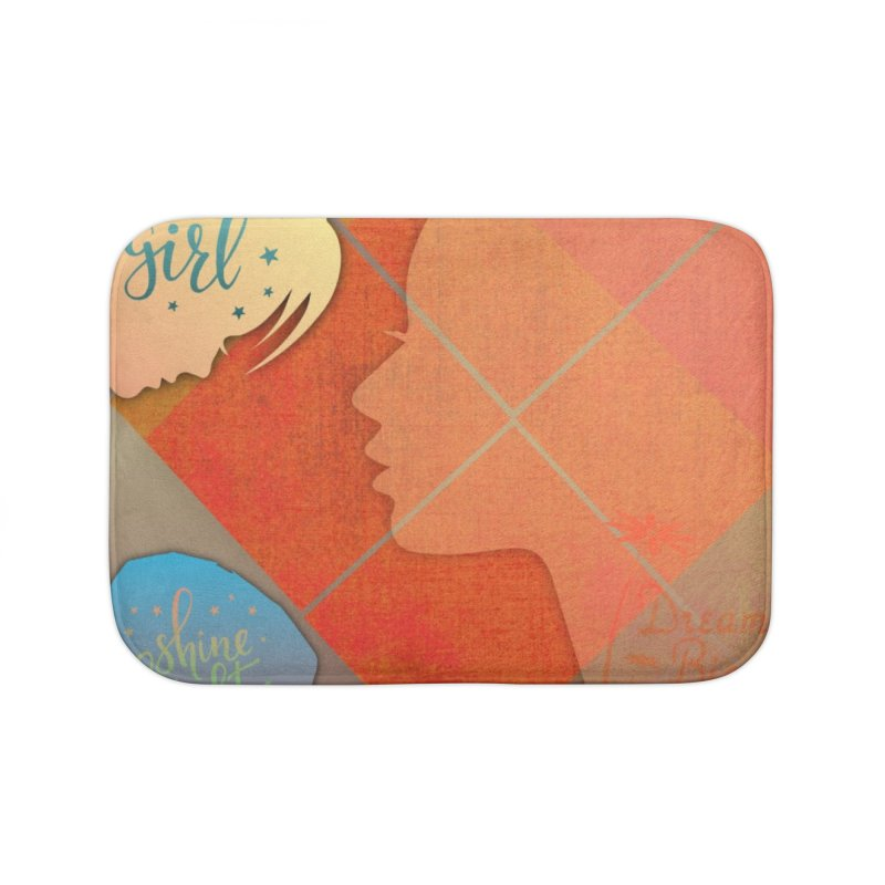 Russet Orange Home Bath Mat by IF Creation's Artist Shop