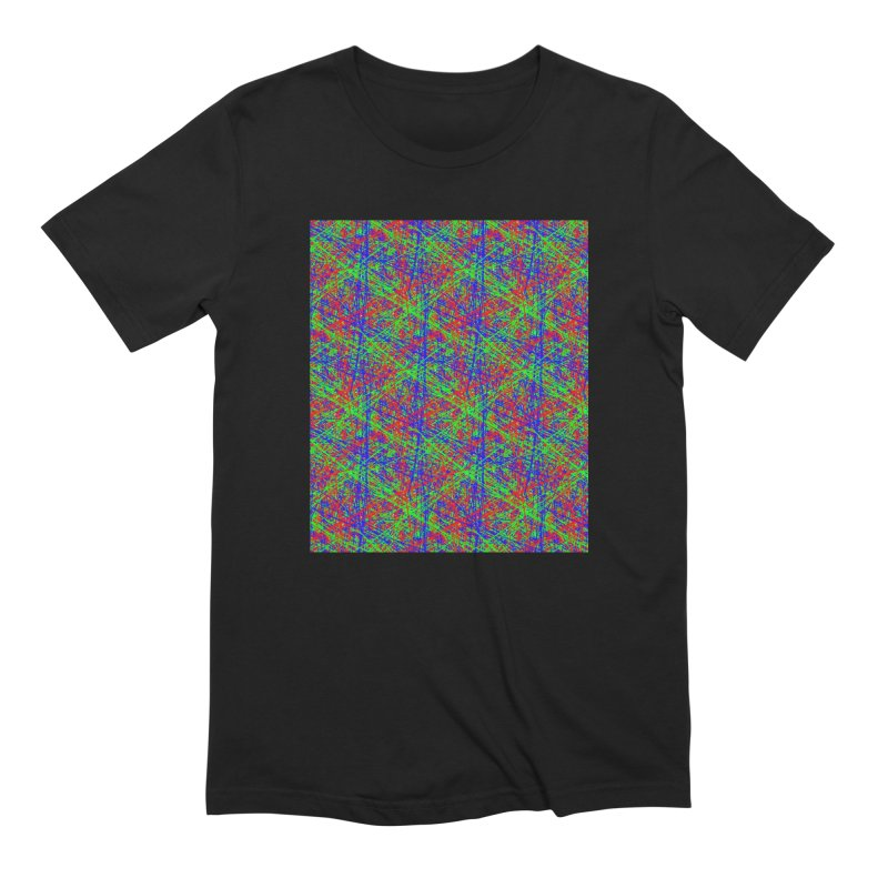 Crazy Lines Men's T-Shirt by IF Creation's Artist Shop