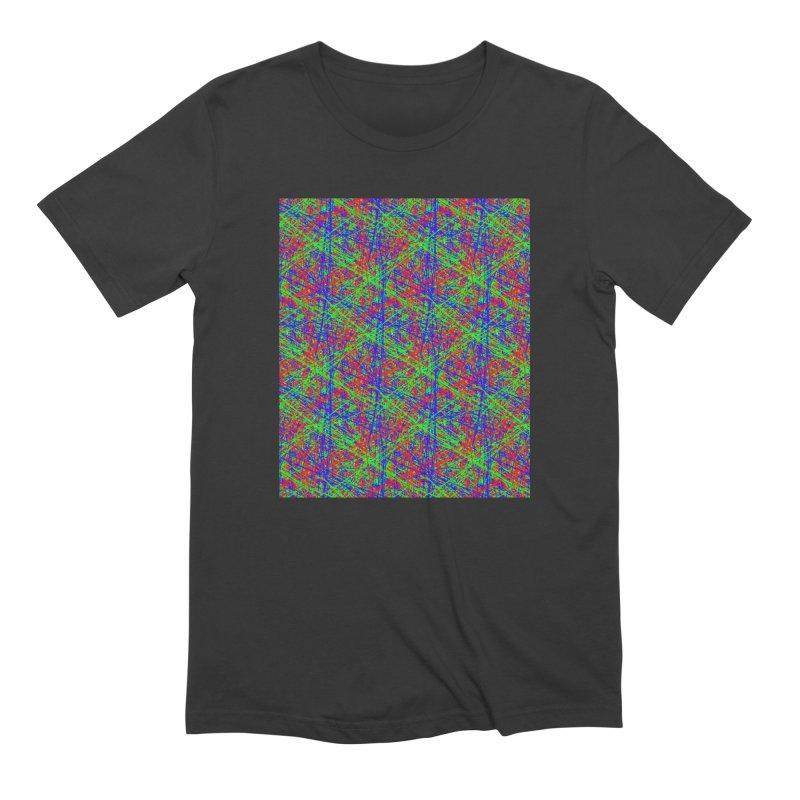 Crazy Lines Men's T-Shirt by IF Creation's Artist Shop