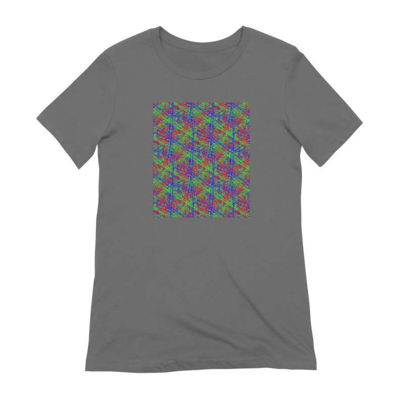 Crazy Lines Women's T-Shirt by IF Creation's Artist Shop