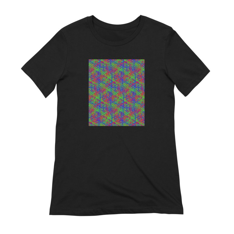 Crazy Lines Women's Extra Soft T-Shirt by IF Creation's Artist Shop