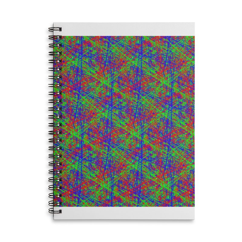 Crazy Lines Accessories Lined Spiral Notebook by IF Creation's Artist Shop