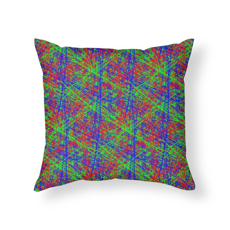 Crazy Lines Home Throw Pillow by IF Creation's Artist Shop
