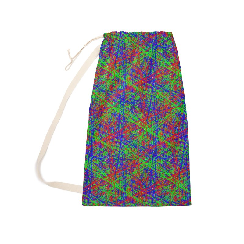 Crazy Lines Accessories Laundry Bag Bag by IF Creation's Artist Shop