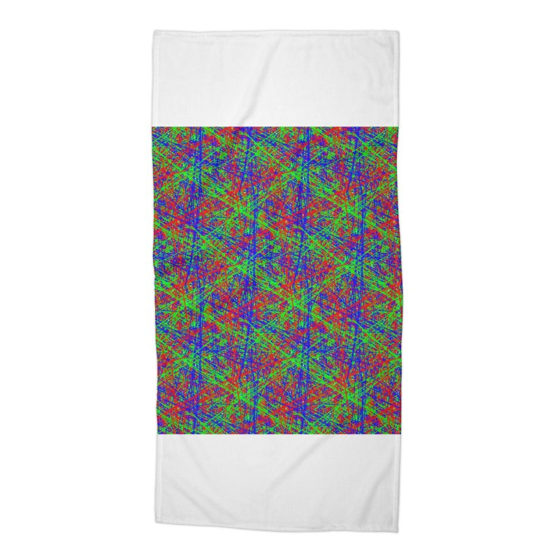 Crazy Lines Accessories Beach Towel by IF Creation's Artist Shop