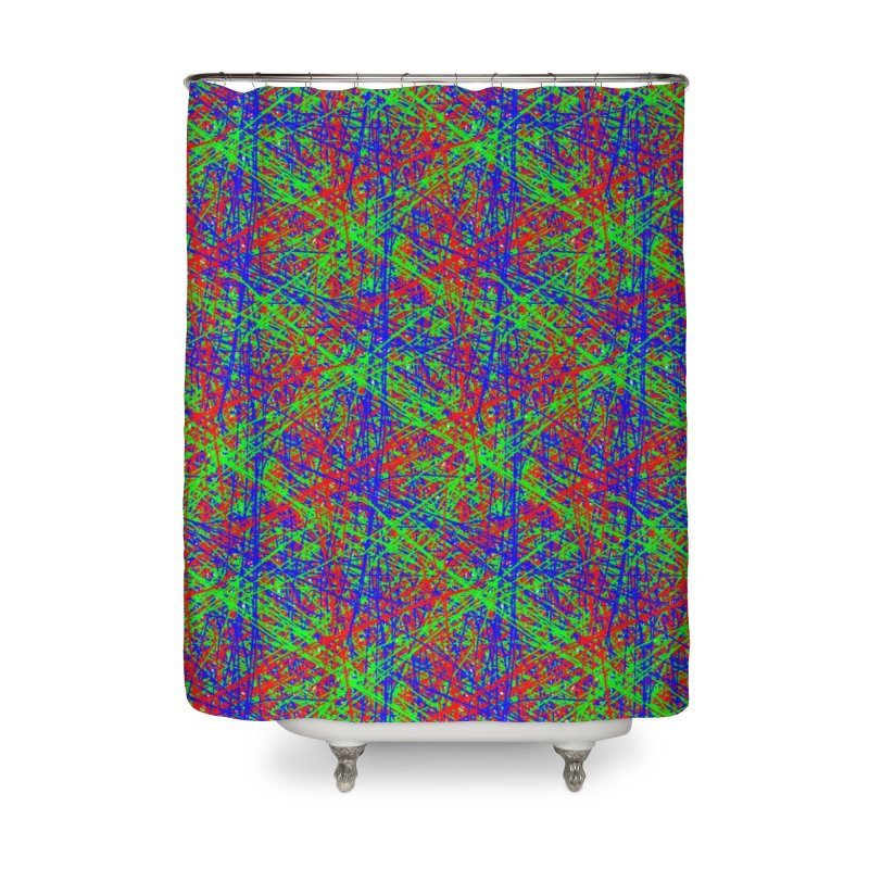 Crazy Lines Home Shower Curtain by IF Creation's Artist Shop