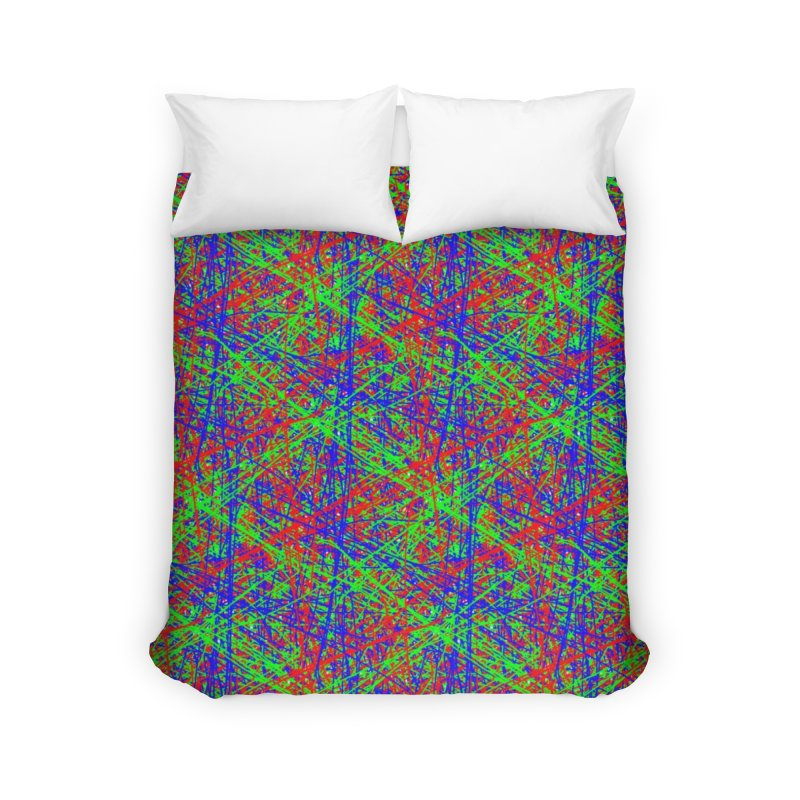 Crazy Lines Home Duvet by IF Creation's Artist Shop