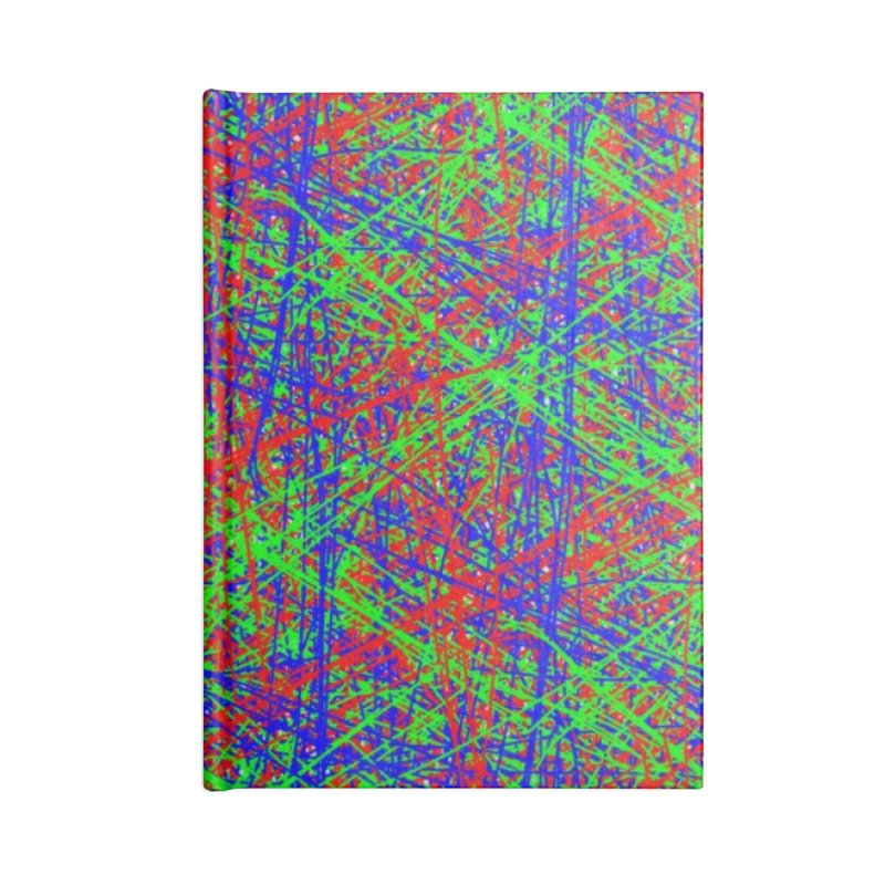 Crazy Lines Accessories Blank Journal Notebook by IF Creation's Artist Shop