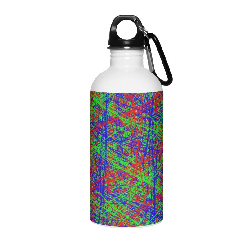 Crazy Lines Accessories Water Bottle by IF Creation's Artist Shop