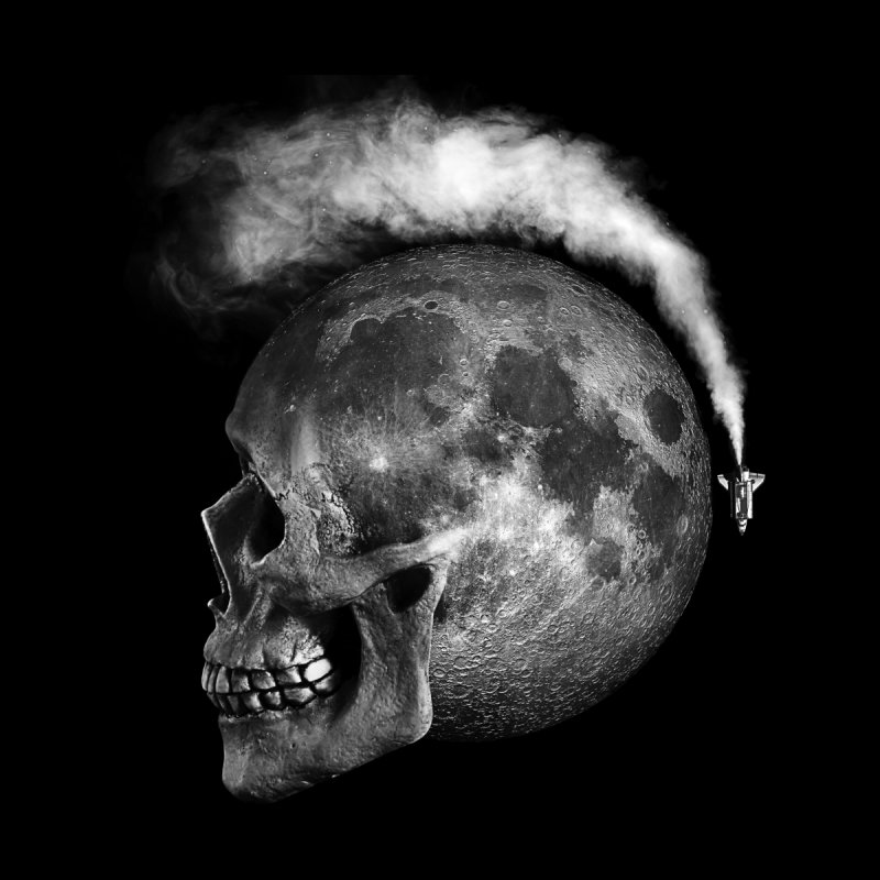 MOONSKULL None  by ISMAILKOCABAS's Artist Shop