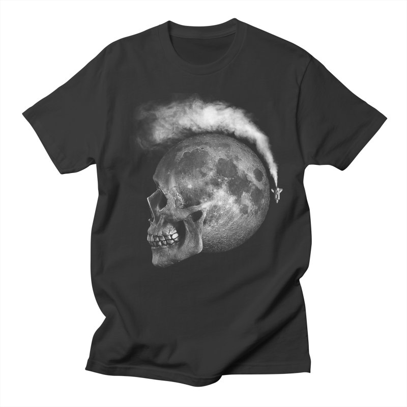 MOONSKULL Men's T-shirt by ISMAILKOCABAS's Artist Shop