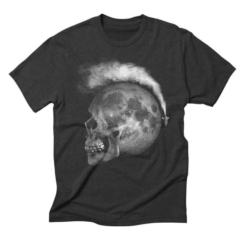 MOONSKULL Men's Triblend T-Shirt by ISMAILKOCABAS's Artist Shop