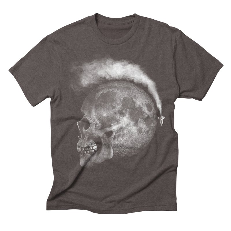 MOONSKULL Men's Triblend T-shirt by ISMAILKOCABAS's Artist Shop