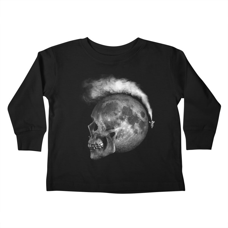 MOONSKULL Kids Toddler Longsleeve T-Shirt by ISMAILKOCABAS's Artist Shop