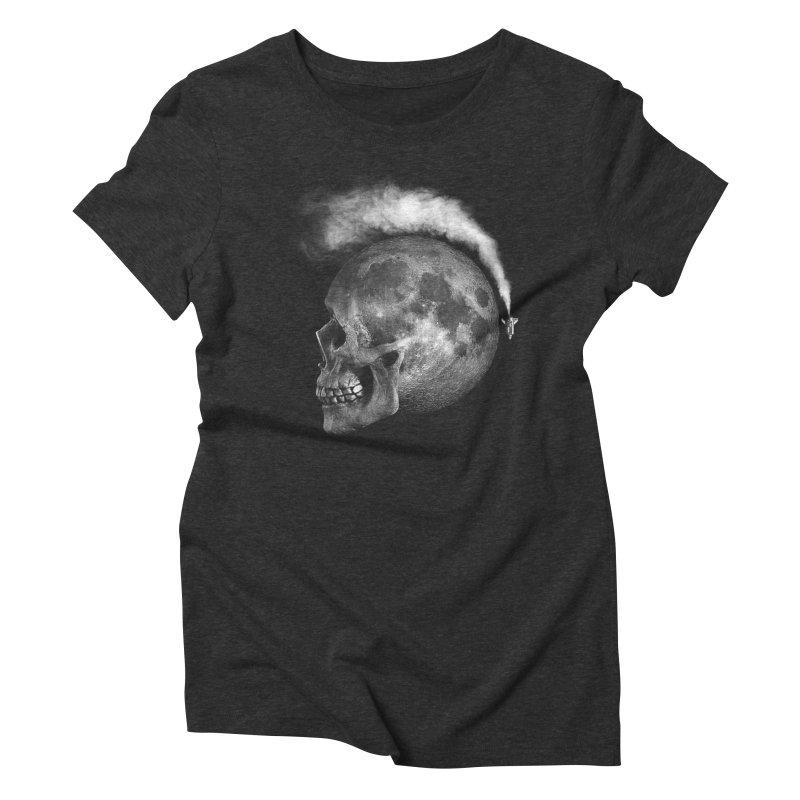 MOONSKULL Women's Triblend T-Shirt by ISMAILKOCABAS's Artist Shop