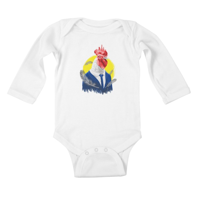 ROOSTER MAN Kids Baby Longsleeve Bodysuit by ISMAILKOCABAS's Artist Shop