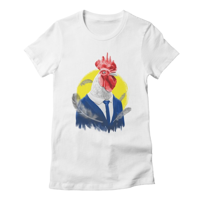ROOSTER MAN Women's Fitted T-Shirt by ISMAILKOCABAS's Artist Shop