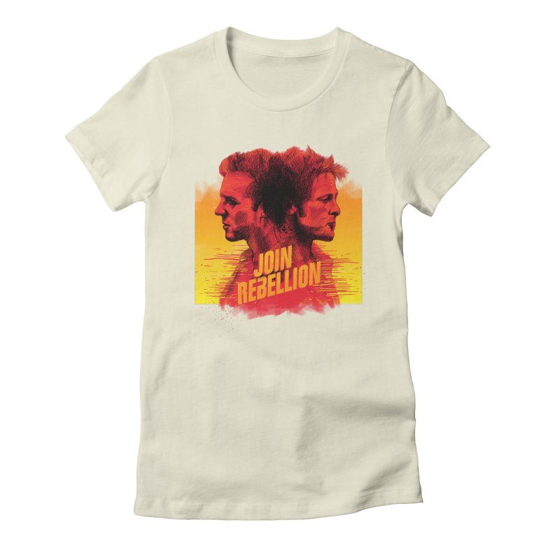 JOIN REBELLION Women's Fitted T-Shirt by ISMAILKOCABAS's Artist Shop