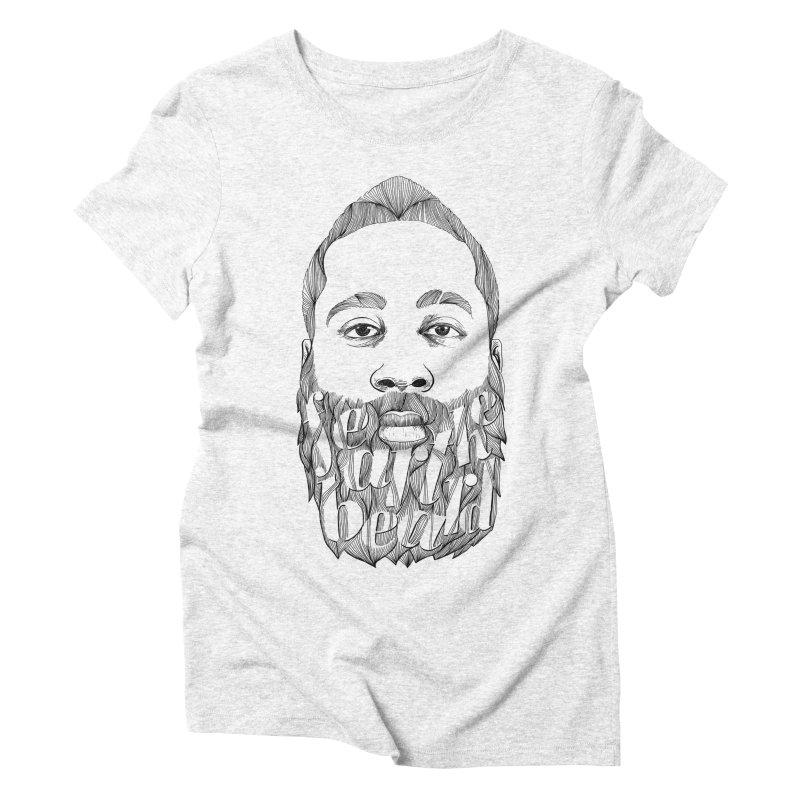 FEAR THE BEARD Women's Triblend T-shirt by ISMAILKOCABAS's Artist Shop