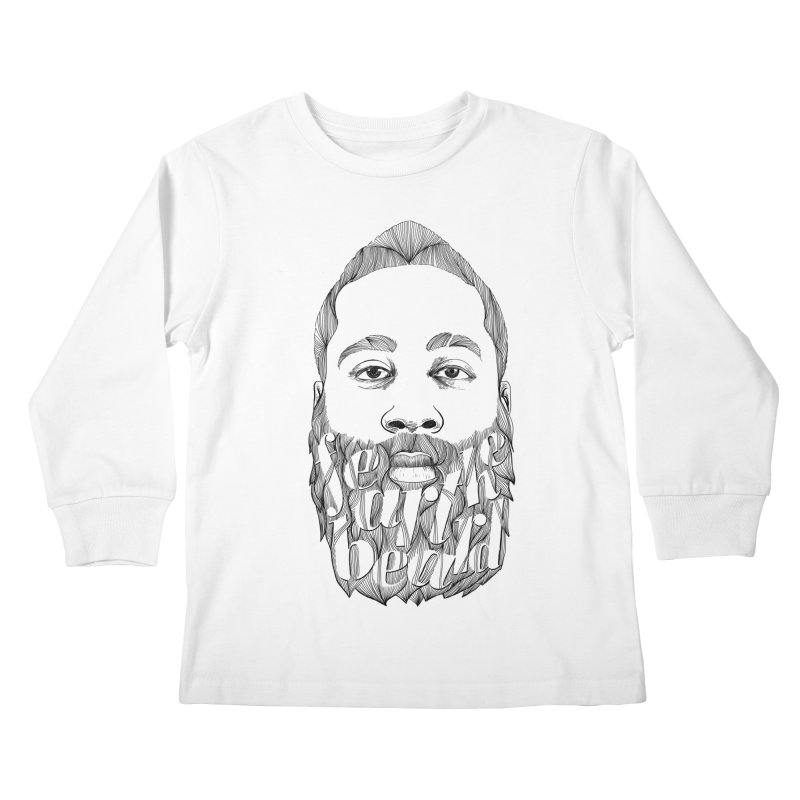 FEAR THE BEARD Kids Longsleeve T-Shirt by ISMAILKOCABAS's Artist Shop