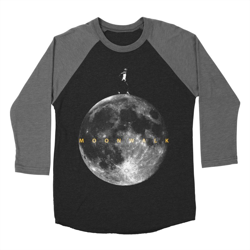MOONWALK Men's Baseball Triblend T-Shirt by ISMAILKOCABAS's Artist Shop