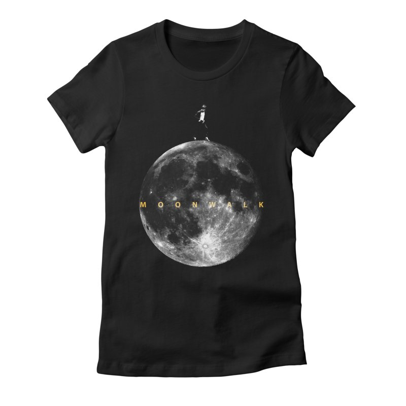 MOONWALK Women's Fitted T-Shirt by ISMAILKOCABAS's Artist Shop