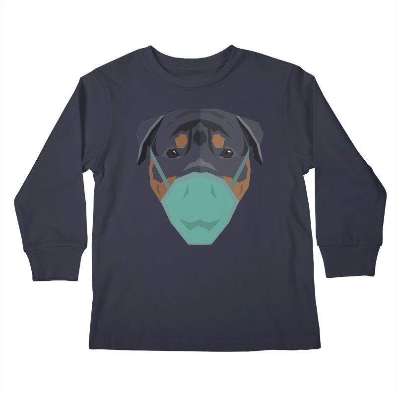 Quarantine Rottweiler Kids Longsleeve T-Shirt by IamIamI's Artist Shop