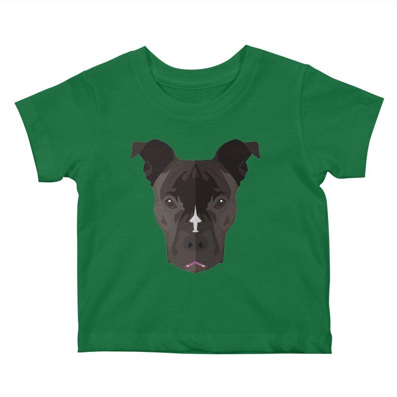Doggoz Bulldog Kids Baby T-Shirt by IamIamI, UAreUareU?